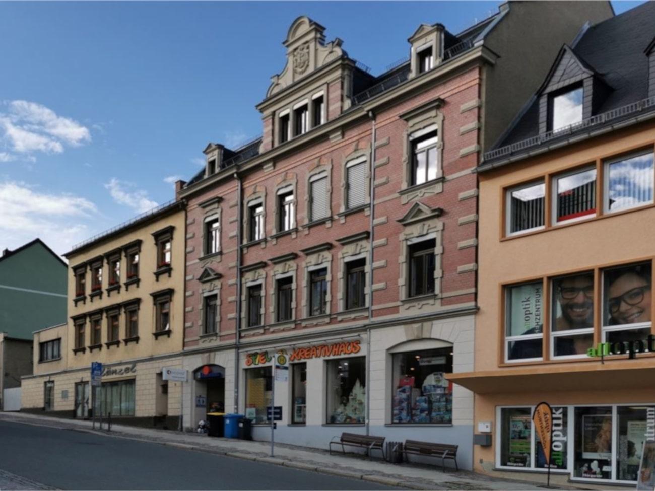 Renditeobjekt: Denkmalgeschütztes Geschäftshaus im Stollberger Stadtkern